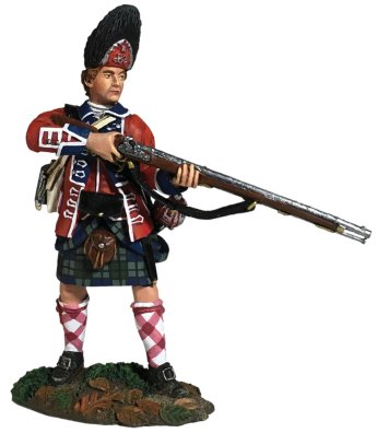 42nd Royal Highland Regiment Grenadier Standing Alert, 1760-63