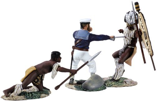 """Seaman Aynsley's Demise"" Hand-to-Hand Set with Seaman Aynsley and 2 Zulus"