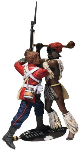 """The Struggle"" Zulu Warrior and British 24th Foot Hand-to-Hand Set"