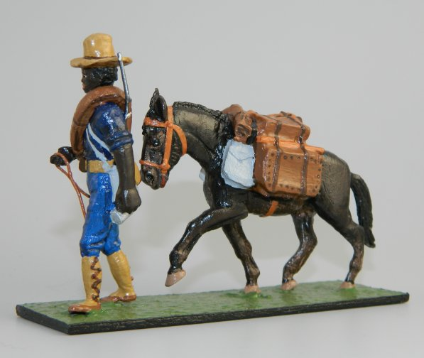 US Colored Private with Pack Mule