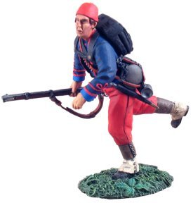 Union Infantry 114th Pennsylvania Zouaves Advancing at Trail #1