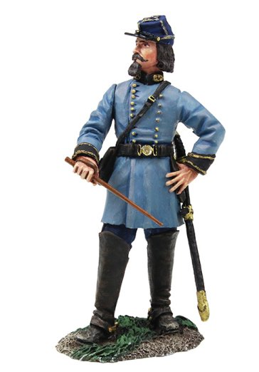 W Britain Civil War Federal Artilleryman Standing with Arms Crossed