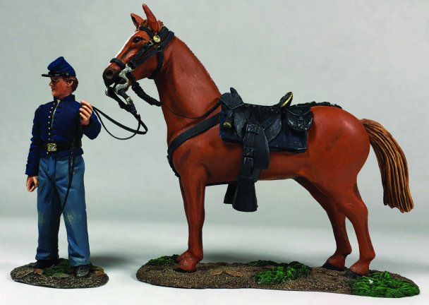 Federal Orderly Holding Horse