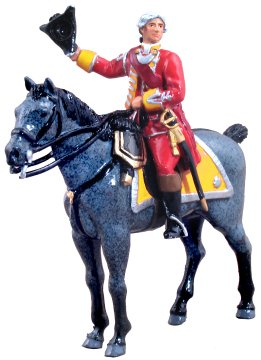 British 35th Regiment of Foot Officer Mounted, 1754-1763