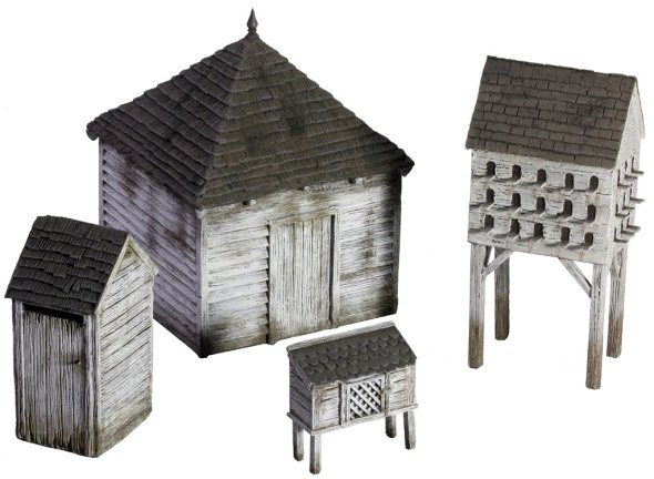 18th/19th Century American Farm Outbuilding Set #1