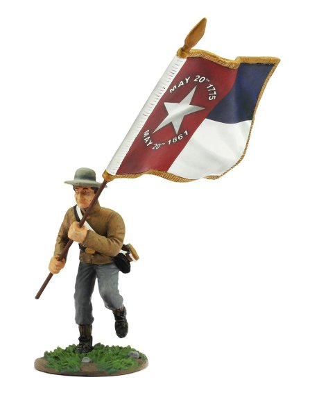 Confederate Color Bearer with North Carolina State Flag
