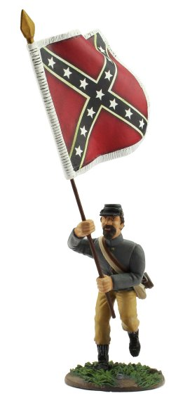 Confederate Color Bearer with Army of Northern Virginia Flag - Third Bunting Issue
