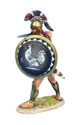 Greek Hoplite Ready with Sword