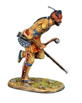 Woodland Indian Running with Malice and Musket