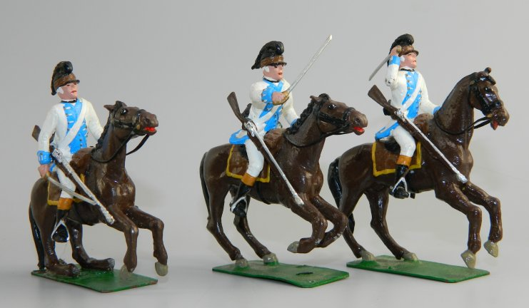 Three Mounted American Revolutionary War Figures