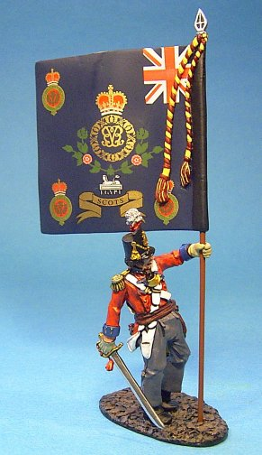 1st Regiment of Foot (Royal Scots), Wounded Officer with Regimental Colours