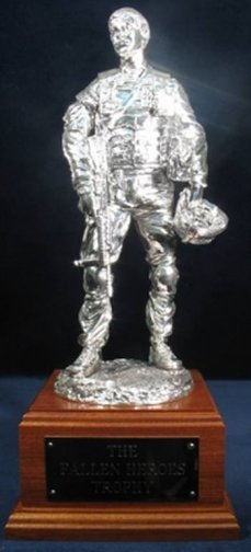 """Debrief"" British Army Soldier, Afghanistan - Silver on Mahogany Base"
