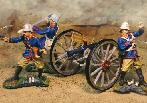 24th Regt Artillery Set - 3 Figures and Cannon