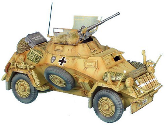 SdKfz 222 Light Armored Reconnaissance Vehicle - 15th Panzer Division
