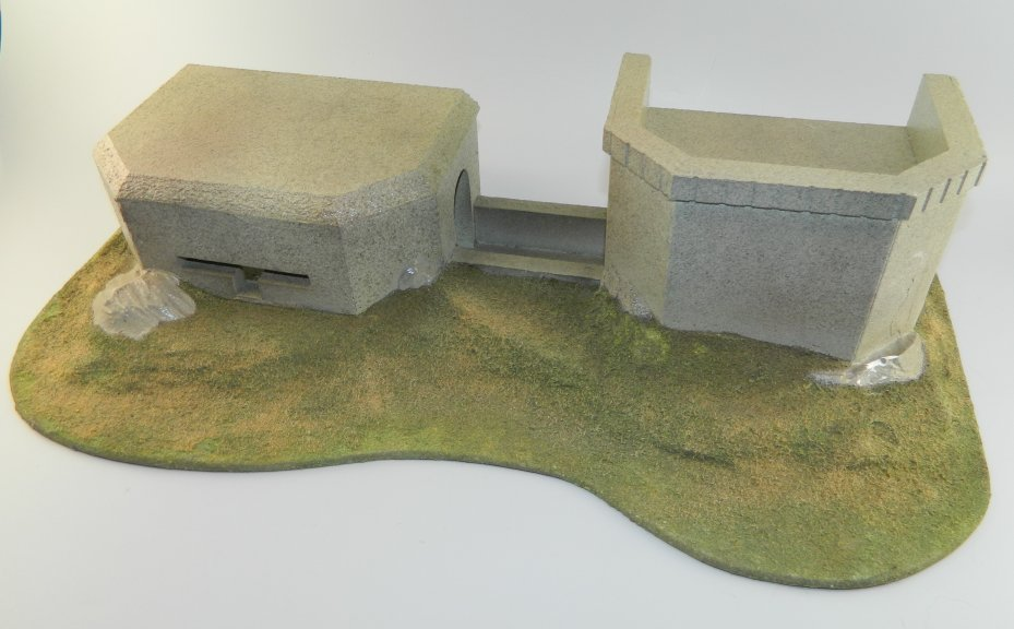 Large WWII Pacific Island Bunker Diorama Base