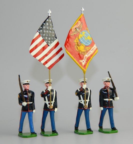 USMC Color Party in Dress Blues