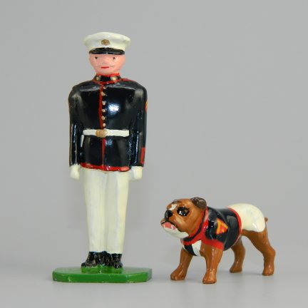 USMC Mascot Chesty & Handler - 8th & I in White Trousers