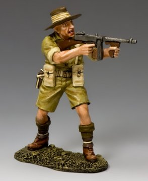 Aussie Officer w/Tommy Gun