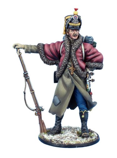 Napoleonic French Voltigeur with Booty - Russia 1812