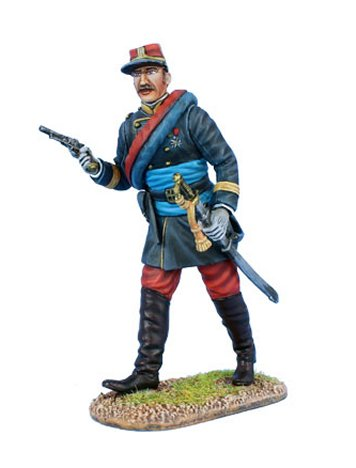 French Line Infantry Officer with Black Jacket
