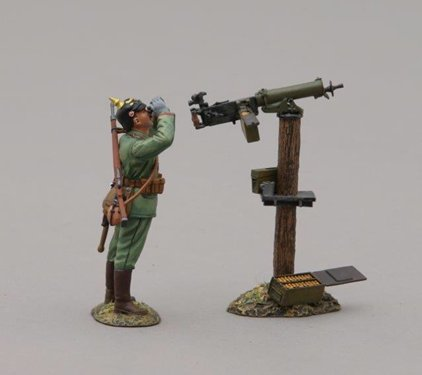 German Infanteer with Maxim Machine Gun - Pickelhaube