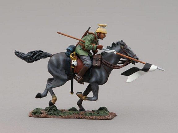 German Uhlan Cavalry Trooper with Lance Lowered