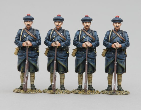 Four French Marine Infantry Sentries