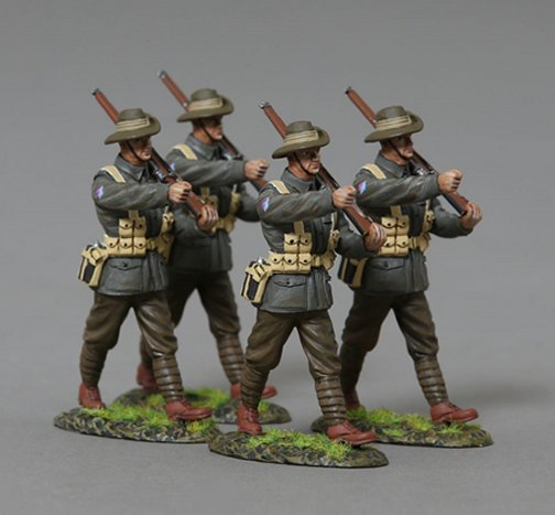Four Marching Infanteers, AIF 19th Battalion