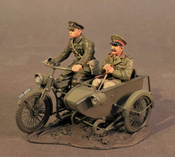 Motorbike and Sidecar with Officer