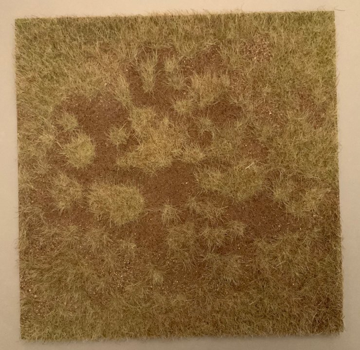 "12"" x 12"" Dry Grass Field Scenic Base"