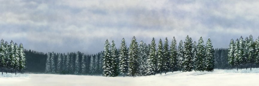 winter scene backdrop no 1