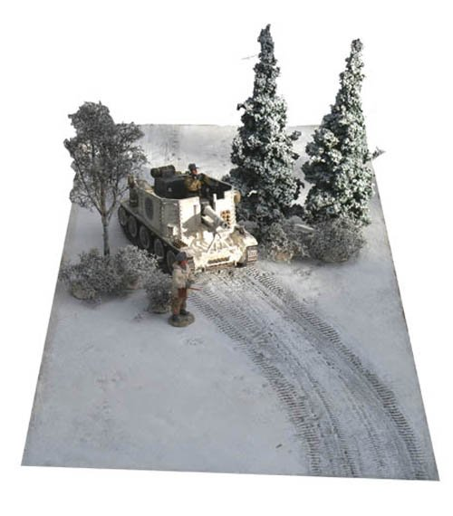 Snow Mat with Curved Tank Tracks