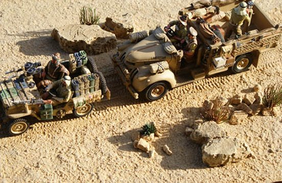 Desert Sand Mat with Diagonal Vehicle Tracks