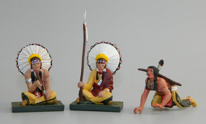 Two Indian Chiefs & One Crawling Indian
