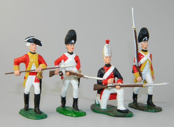 Four British Infantry Troops