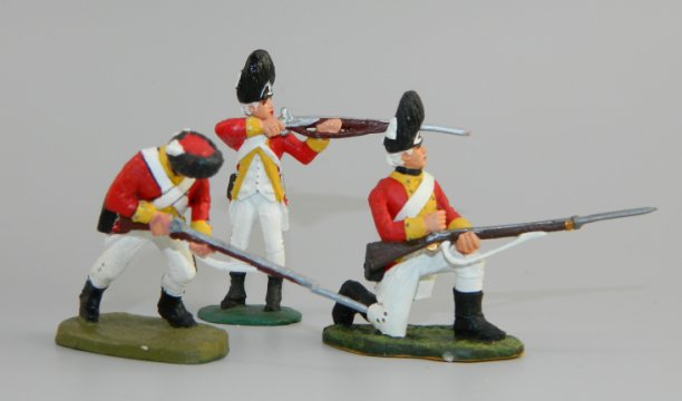 38th Regiment British Grenadiers – Kneeling Loading, Standing Firing & Lunging Forward