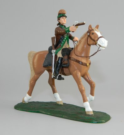 Mounted Colonial Officer with Pistol - Leman's