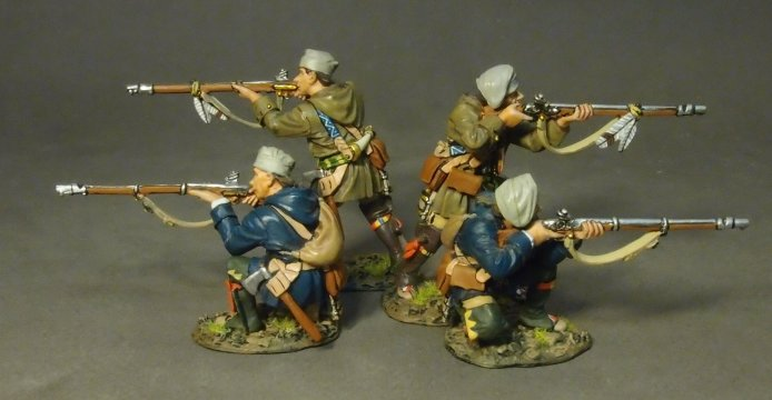 Four Militia Skirmishing, French Militia, Trois Rivieres Brigade