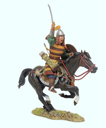 Mongol Cavalry Sword Above Head