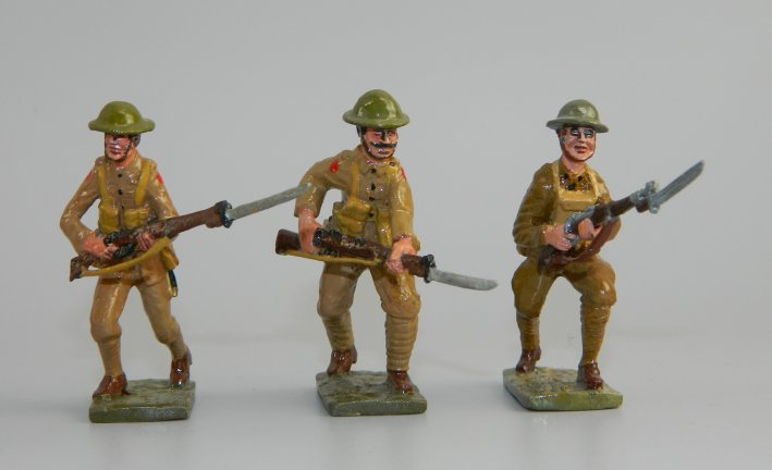 Three WWI American Soldiers Advancing