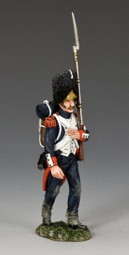 Old Guard Marching with Musket on Left Shoulder
