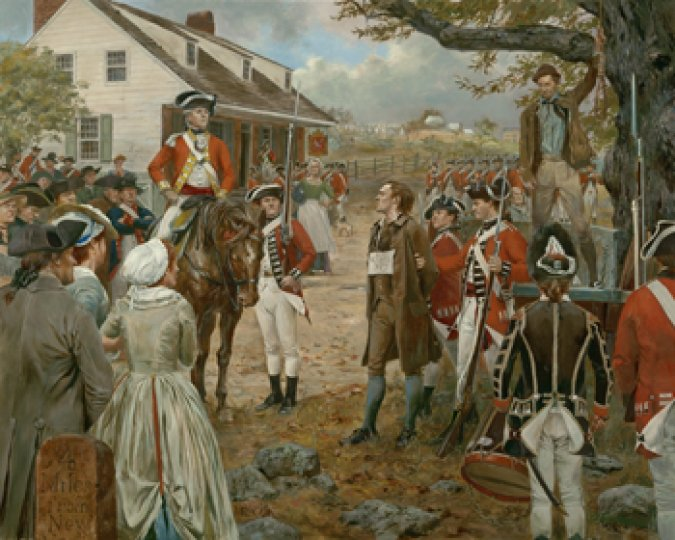 Nathan Hale, Spetember 22, 1776 - Canvas Giclee