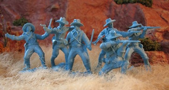 Dismounted US Cavalry Set #1 - Light Blue
