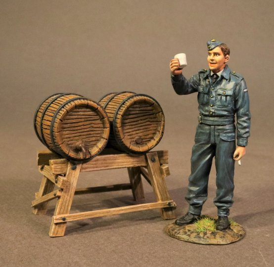 Ground Crewman with Beer Kegs