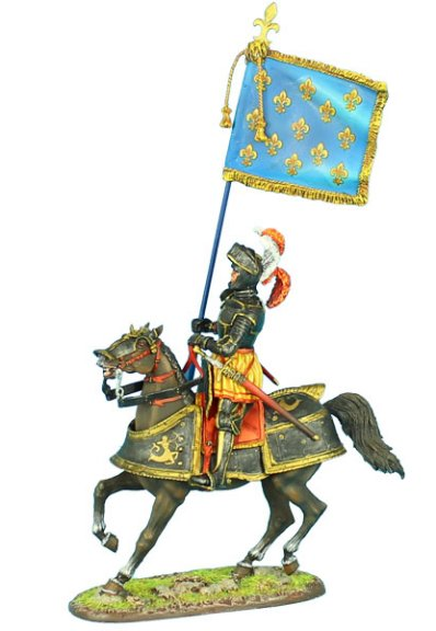 French King's Mounted Standard Bearer