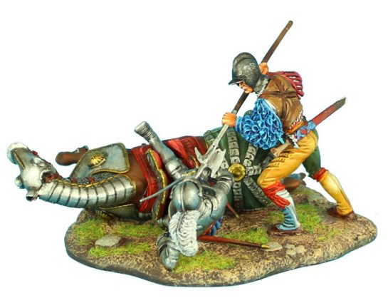 German Landsknecht Finishing Off Downed French Knight
