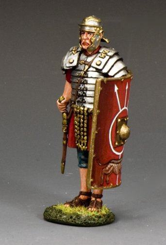 'At Attention' Roman Legionary w/Gladius Sword