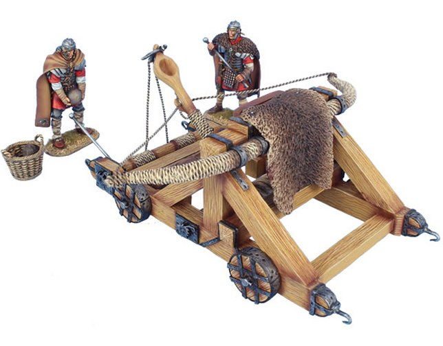 Winter Roman Onager with 2 Crew Figures, Basket, and 2 Stones