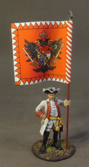 Infantry Officer with Regimental Flag - Roth Wurzburg Infantry Regiment