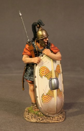Legionnaire Leaning on Scutum, Roman Army of the Late Republic